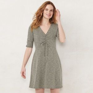 NWT LC Lauren Conrad Fit & Flare Drawstring Dress